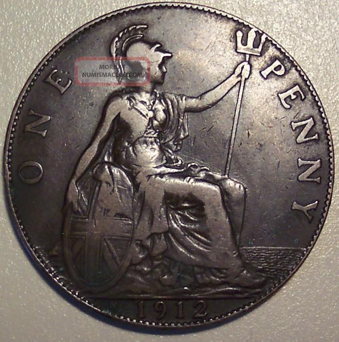 1912 H Great Britain Penny UK (Great Britain) photo