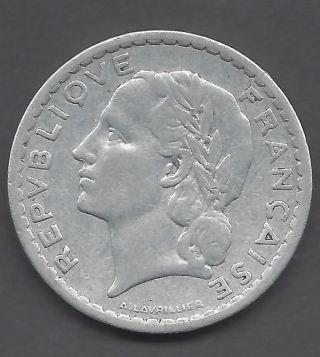 France - 1949 5 Franc Coin - photo