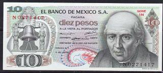 Mexico Hidalgo 10 Pesos 1969 (b31) photo