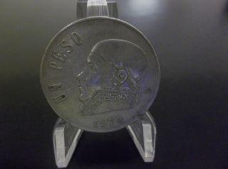 1974 Un Peso Mexico World Coin Circulated photo