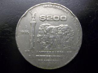 1985 200 Pesos Mexican World Coin Circulated photo