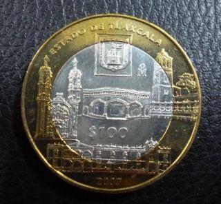 Mexico Bimetallic Silver Coin 100 Pesos Km858 Au 2007 - Basilica De Ocotlán photo