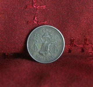 25 Centavos 1953 Mexico Silver World Coin Eagle Km443 Liberty Cap Scale Cent photo