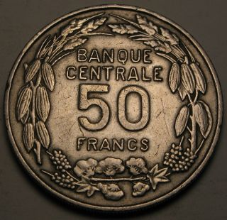 Cameroon 50 Francs 1960 (a) - Copper/nickel - Independence Commemorative - Vf photo