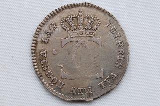 Sweden 1/24 Riksdaler 1810 Gustav Iv Adolf Vf photo