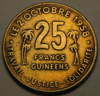 Guinea 25 Francs 1959 - Aluminum/bronze photo
