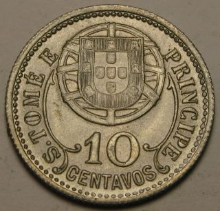 Saint Thomas & Prince (portuguese Colony) 10 Centavos 1929 - Vf photo