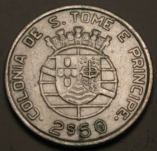Saint Thomas & Prince (portuguese Colony) 2 - 1/2 Escudos 1939 - Silver photo