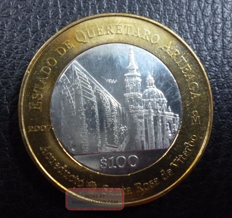 2007 Mexico 100 Pesos Oaxaca BiMetallic KM 849