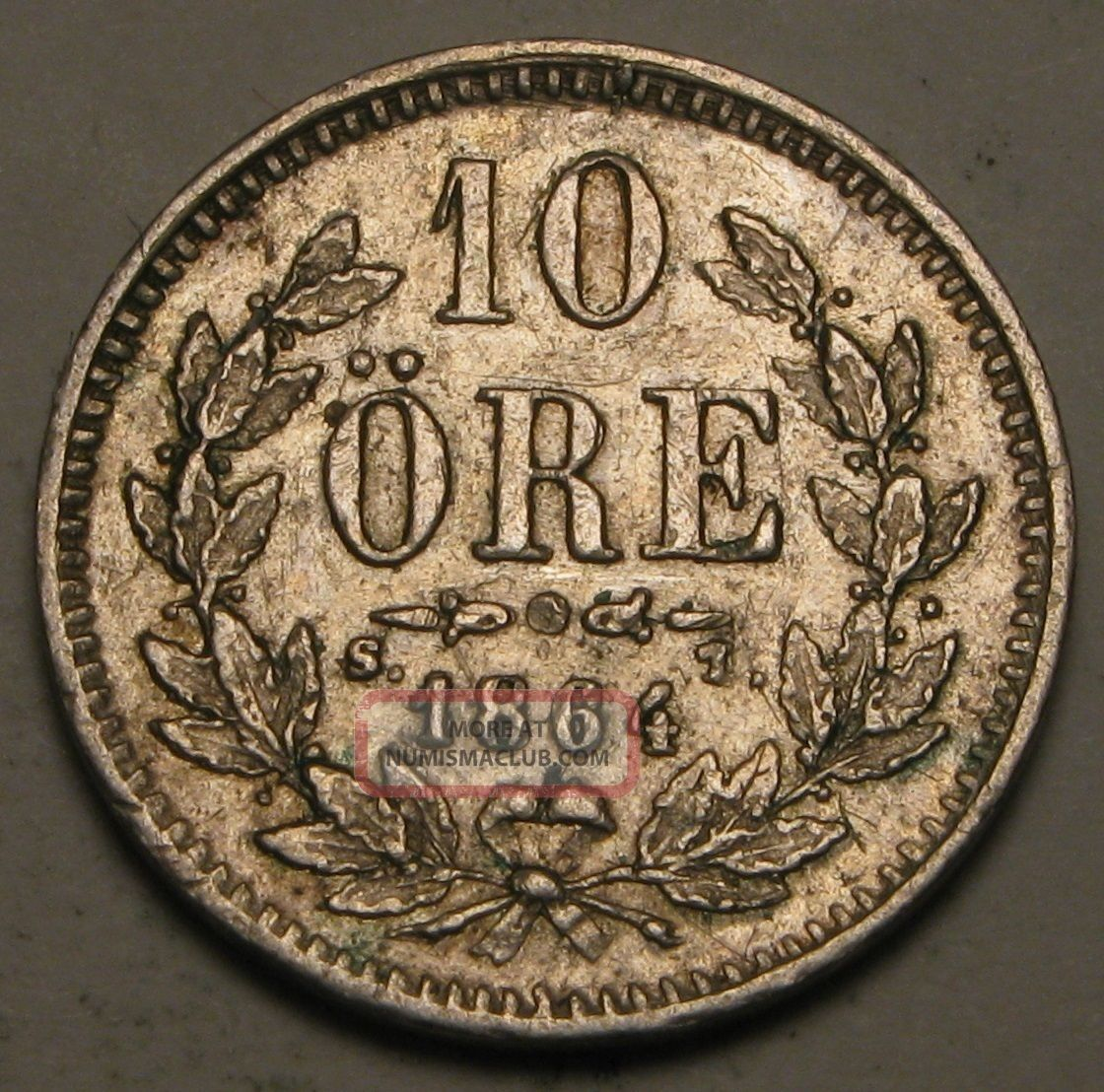Sweden 10 Ore 1864 St - Silver - Carl Xv Adolf - Vf Europe photo