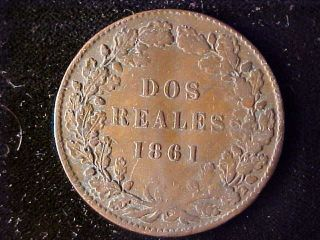 Buenos Aires Km11 2 Reales 1861 Bent photo