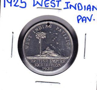 1925 West Indian Leeward Islands/jamaica/bahamas British Empire Exhibition Medal photo