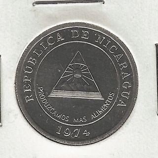 Nicaragua 5 Centavos,  1974,  F.  A.  O. photo