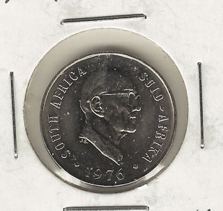 South Africa 10 Cents,  1976 photo