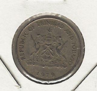 Trinidad & Tobago 25 Cents,  1979 photo