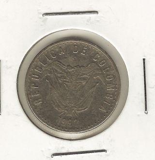 Colombia 50 Pesos,  1992 photo