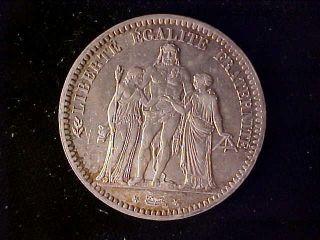 France 5 Francs 1872a Bu photo