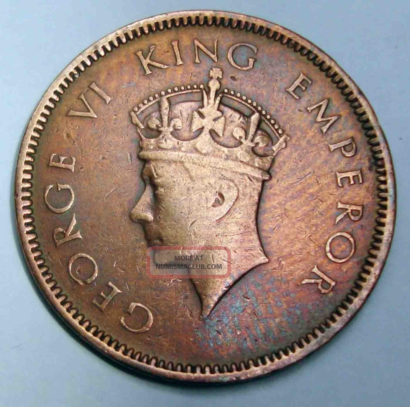 One Quarter Anna 1939 George Vi Th King Emperor Rare