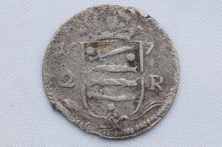 Sweden Baltic States Narva City 2 Ore 1671 Karl Xi Vf Rare photo