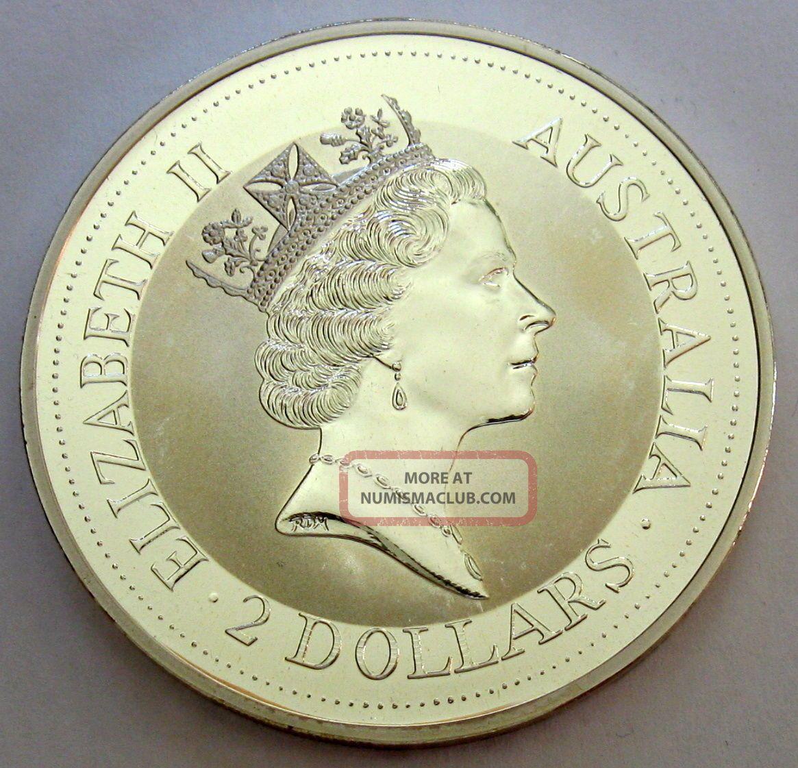 1992 Australia Kookaburra 2 Oz 999 Fine Silver Coin 2