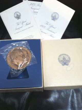1973 Richard Nixon Spiro Agnew Official Inaugural Medal Franklin Bronze photo