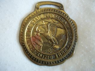 Union Medal/illinois State Federation Of Labor Organized 1882 (0512) photo