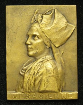 Ernesta Robert - Merignac Bronze Medal Plaque Alsacienne Alsace,  France photo