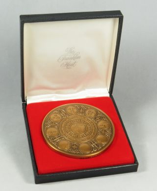 1984 Franklin Calendar Art Medal Phases Of The Moon 3