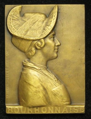 Ernesta Robert - Merignac Bronze Medal Plaque Bourbonnaise Bourbon,  France photo