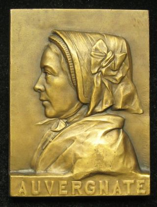 Ernesta Robert - Merignac Bronze Medal Plaque Auvergnate Auvergne,  France photo