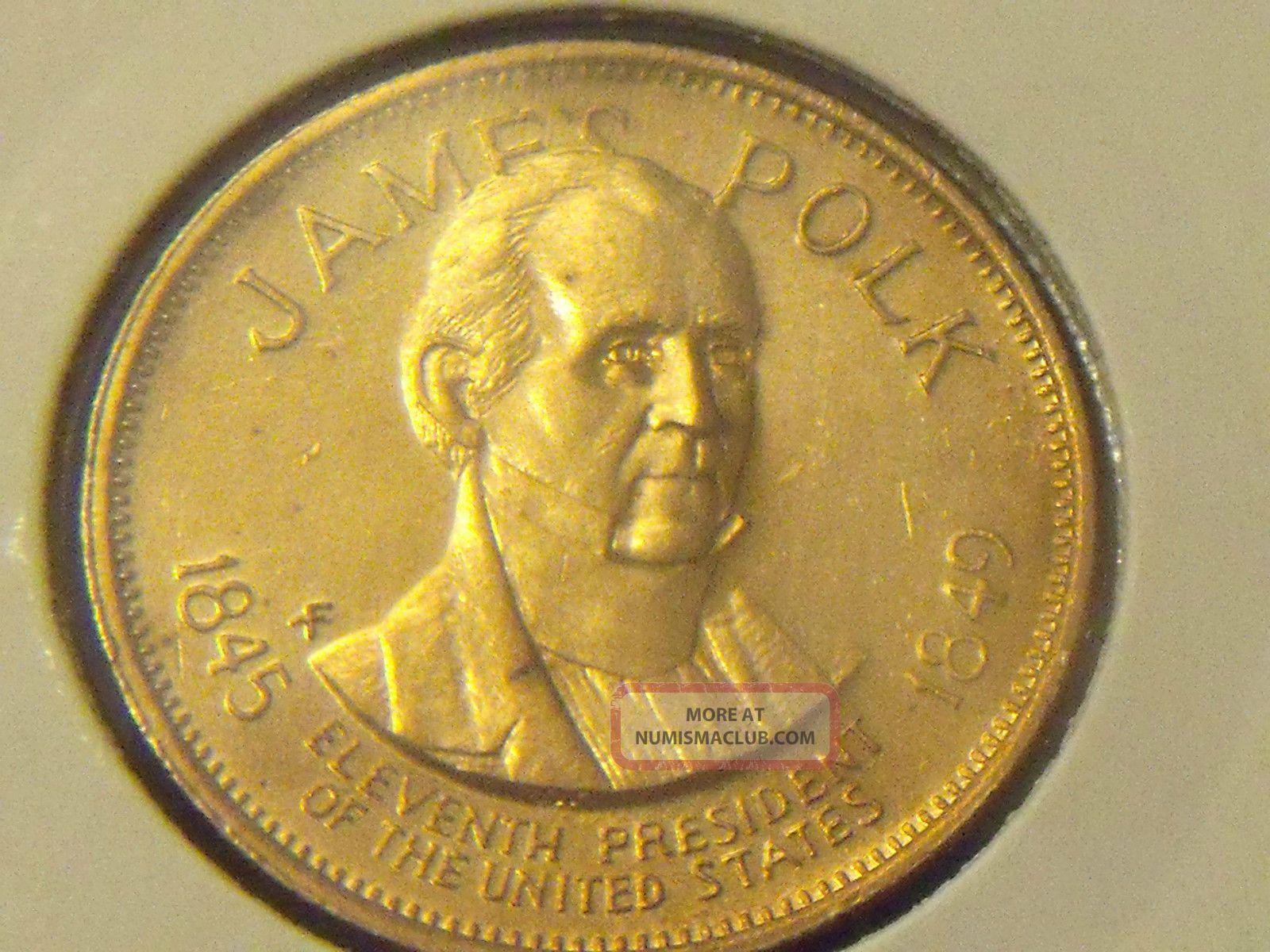 James Polk 1845 - 1849 President Medal - Bronze - Kp269 - See Pictures Exonumia photo
