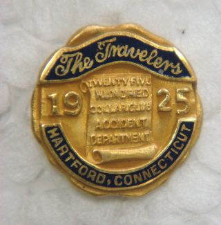 Gold Pin - The Travelers 25 Hundred Dollar Club,  1925,  Hartford,  Connecticut photo