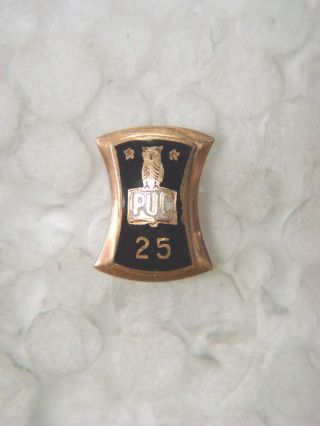 Gold Pin - P U C 25 (owl Pictured) photo
