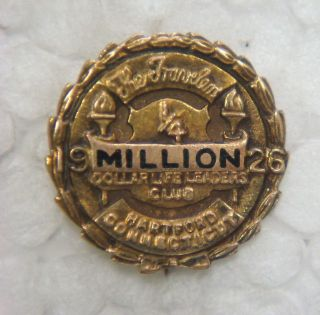 Gold Pin - The Travelers ¼ Million Dollar Club,  1926,  Hartford,  Connecticut photo