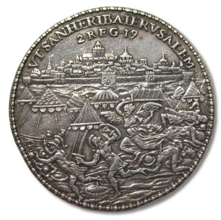 ++ Spanish Netherlands,  Silver Medal 1574,  Relief Siege Of Leyden Leiden ++ photo