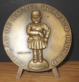 Bronze Medal Rafael Bordallo Pinheiro Policemen Policia Portugal Cabral Antunes photo