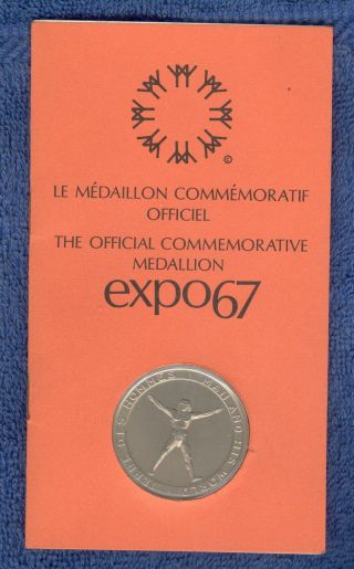 The Official Commutative Medallion Expo 67 Canada Unc Made By The Wellings Corp photo