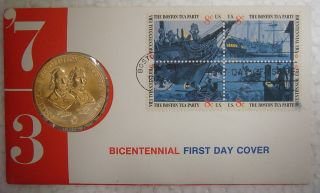 1973 Bicentennial First Day Cover - Samuel Adams,  Patrick Henry photo