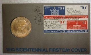 1974 Bicentennial First Day Cover - John Adams photo