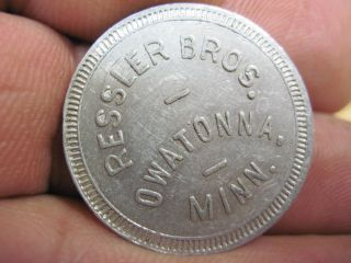 Owatonna Minnesota Good For 10c Cents In Trade Token Ressler Bros Coin Mn photo