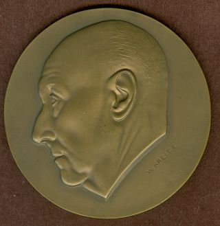 1970 Belgium Medal In Honor Of Jean Willems,  By W.  Kreitz photo