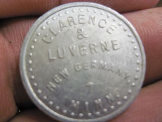 Germaney Minnesota Good For 10c In Trade Token Clarence & Luverne Mn Coin photo
