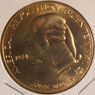 1974 American Revolution Bicentenni Medal John Adams 1st Continental Congress photo