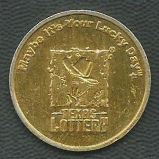 Texas Lottery Token - Gold Color photo