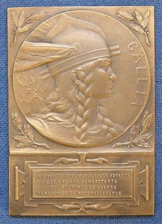 France.  Gallia.  Societies For Veterans And War Victims Award Medal,  1910 photo