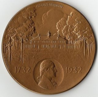 George Washington Bicentennial,  Philadelphia Medal,  1932 By J.  R.  Sinnock photo