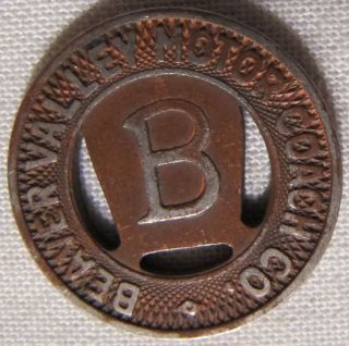 1951 Beaver Valley Motor Coach Token Letter B In Center Copper Plated Pa - 65s photo