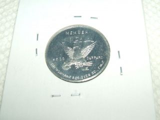 1933 - 1935 Small Roosevelt Nra Token Silver Tone National Recovery Act Deal photo