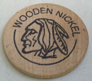 1996 The Door Knob Skagway Alaska Wooden Nickel photo