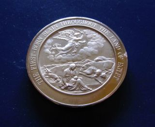 Bible - Exodus - First Born Slain In Egypt Medallic Bible Bronze Medal photo
